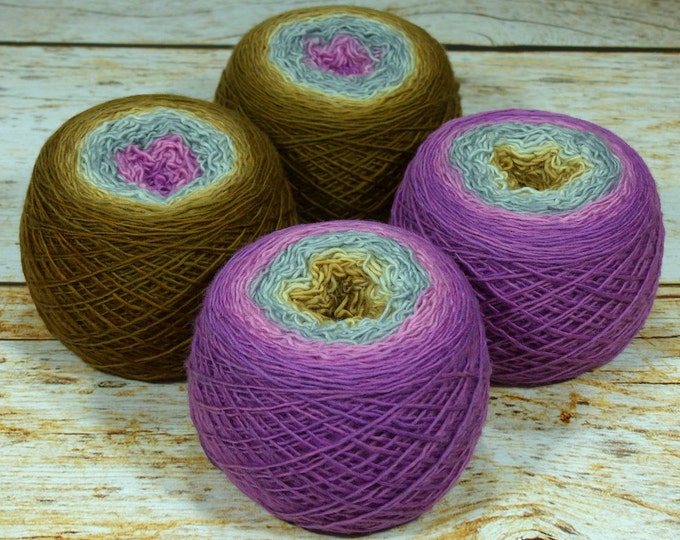 "Full "" Pirate Princess "" - Llift Handpainted Gradient Single Ply Fingering Weight Yarn"