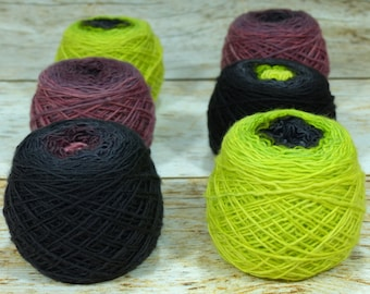 "Colorwork Set "" Zombie Virus "" -Llift Handpainted Gradient Single Ply Yarn"
