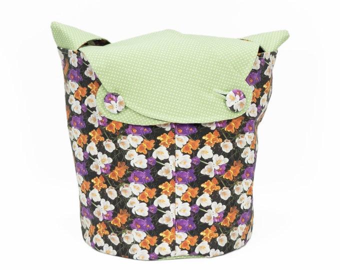 Crocus - Medium Llayover Knitting Tote / Knitting, Spinning, Crochet Project Bag
