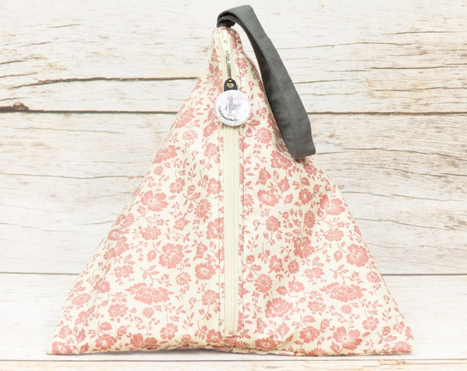 Garden Grey - Llexical Divided Sock Pouch - Knitting, Crochet, Spinning Project Bag