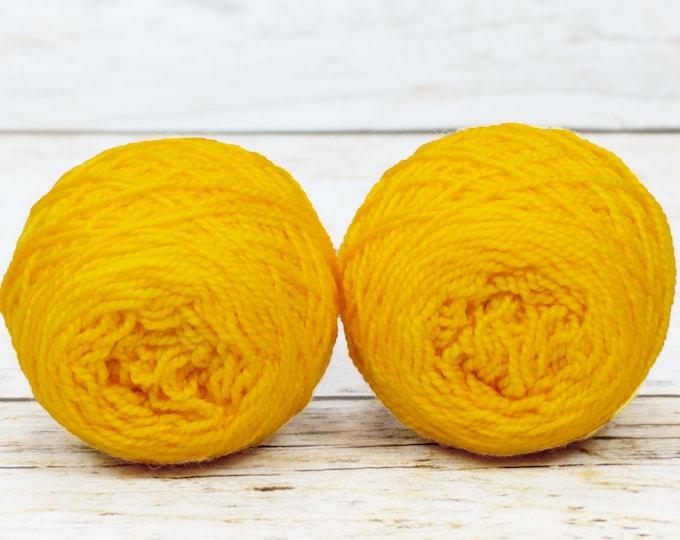 """Wee """" Saffron """" -Lleap Handpainted Semisolid Fingering Weight Yarn Mini Skein"""