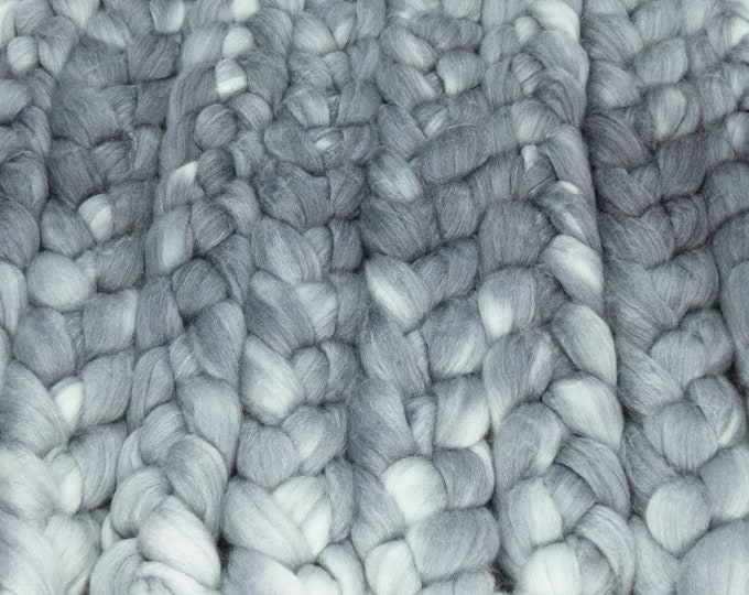 Crone / Lleaf Handpainted SW Merino-Bamboo-Nylon Combed Top/ 4 oz.