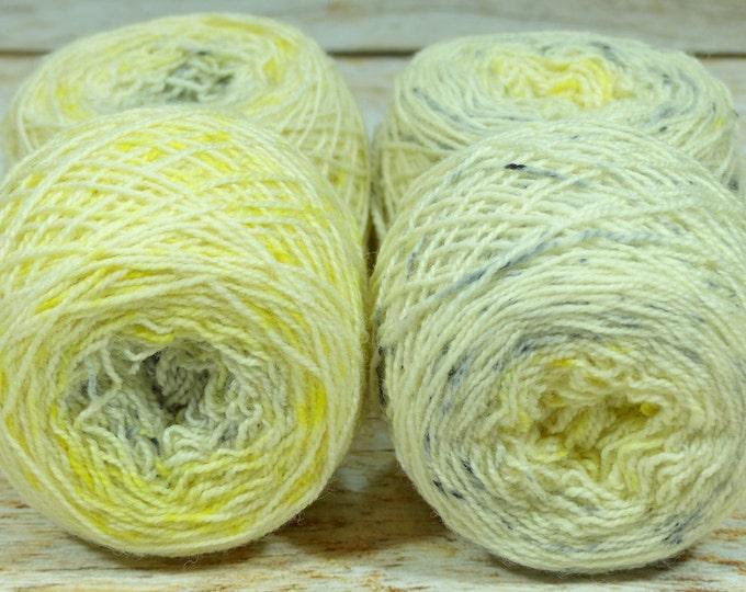 "Fraternal Sock Twins "" Sylph "" - Llark Handpainted Gradient Speckle Sock Yarn Set"