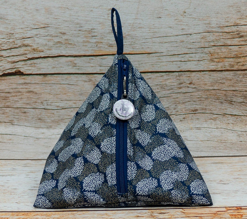 Knitting Llexical Notions Pouch Spinning Accessory Bag Crochet Winter Trees