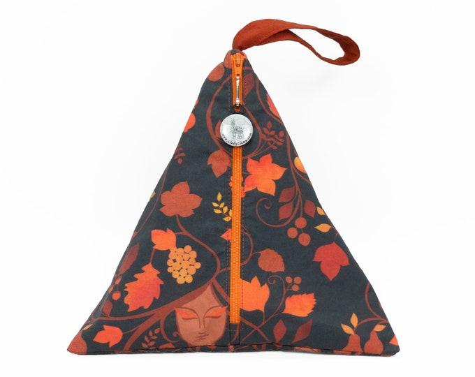 Autumn Equinox Dark - Llexical Divided Sock Pouch - Knitting, Crochet, Spinning Project Bag