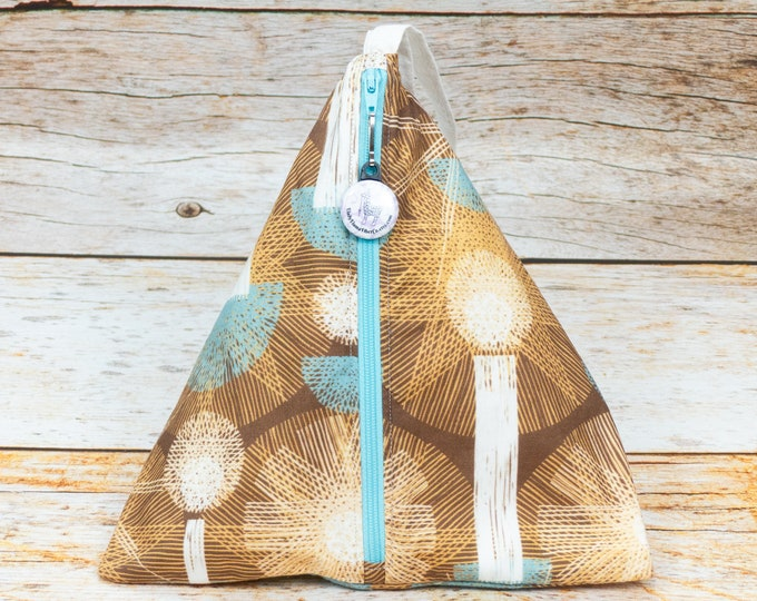 Light In The Night - Llexical Divided Sock Pouch - Knitting, Crochet, Spinning Project Bag