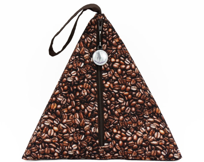 Coffee Beans - Llexical Divided Sock Pouch - Knitting, Crochet, Spinning Project Bag
