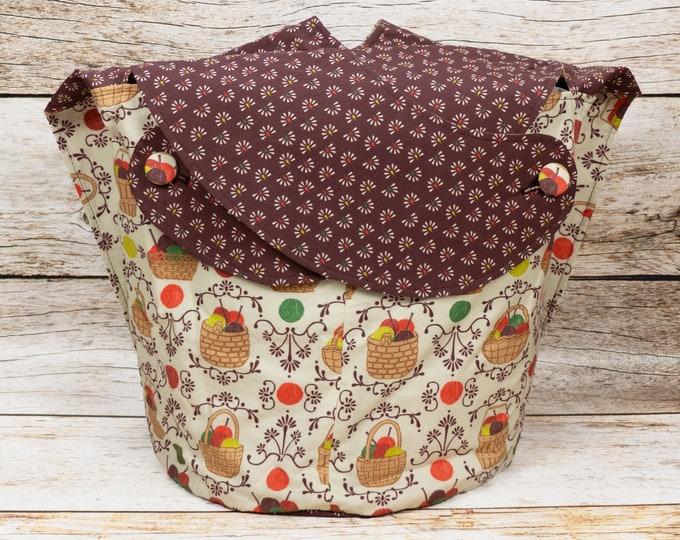Knitting Basket -Large Llayover Tote/ Knitting, Spinning, Crochet Project Bag