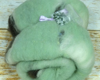 Beaded Lluxurious Batt-Domestic Wool/Merino/SW BFL-1.75 oz.