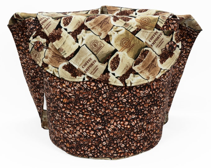 Coffee Bean -Large Llayover Tote/ Knitting, Spinning, Crochet Project Bag