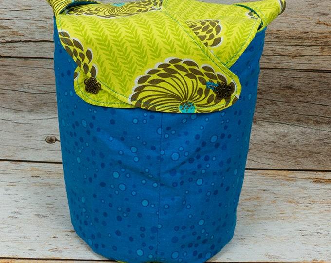 Delhi Blooms -Small Llayover Knitting Tote/ Knitting, Spinning, Crochet Bag