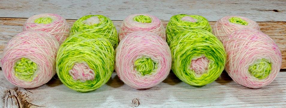 Fraternal Shorty Sock Twins  Uroborus Llark Handpainted Gradient Speckle Sock Yarn Set