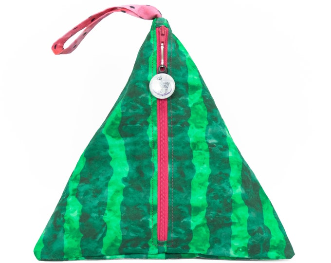 Watermelon - Llexical Divided Sock Pouch - Knitting, Crochet, Spinning Project Bag