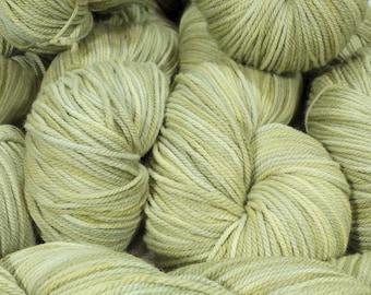 "Llineage Worsted "" Lichen "" Semisolid Targhee Hand Dyed Yarn 160g / 400 yd"
