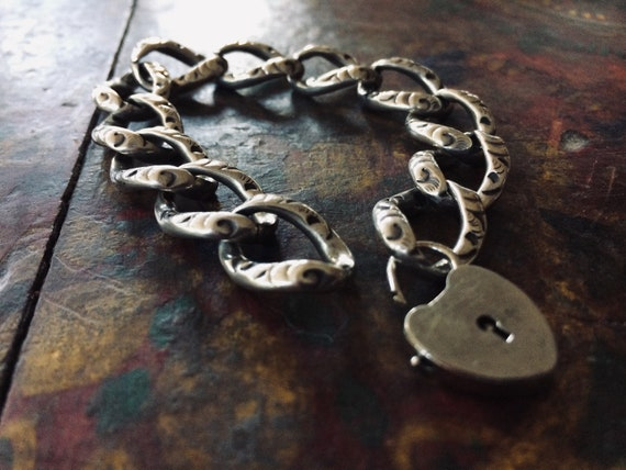 Victorian Sterling Chain Bracelet