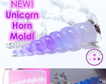 Small Unicorn Horn Pendulum Pendant Mold Silicone Rubber