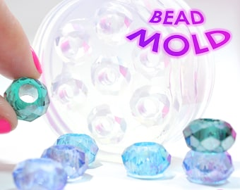 Facetted Bead Mold Silicone Rubber; 5 Pieces; 5 mm Opening