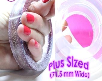 PLUS SIZE Bangle Mold Flat Edge Round Bracelet Mold