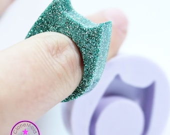Ring Mold Cat Ear Band ; Silicone Rubber; Size 8, 10