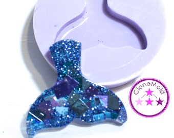 Whale Tail Mold Pendant/Earring Silicone Rubber Mold
