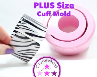 PLUS SIZE Cuff Mold Tall Flat  Extra Large Bangle Bracelet Silicone Rubber Mold