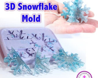 3D  Snowflake Ornament Molds; Silicone Rubber