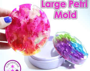 Large Round Petri or Coaster Mold Round Large Silicone Rubber