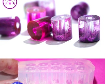 Tall Cylinder Bead Mold Tall Cylindrical Silicone Rubber Mold