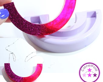 Bib Necklace Mold Half Circle Shape; Silicone Rubber Mold