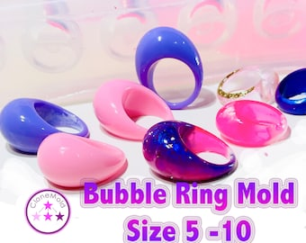 Multiple Bubble Ring Mold; Sizes 5 - 10