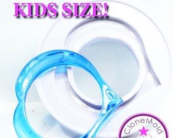 Bangle Mold KIDS sized Heart Silicone Bracelet Mold