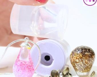 Silicone Tear Drop Mold; Pendant Small Large; Silicone Rubber