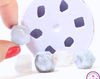 Stone Mold Smooth Rock Shaped Gem Silicone Rubber Mold