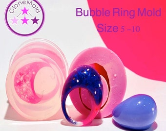 Bubble Ring Mold; Sizes 5 - 10