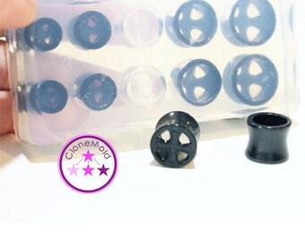 Tunnel Mold Wheel Rim Gauge Ear Plug Piercing Silicone Rubber Mold