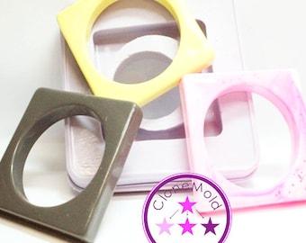 Bangle Mold Large Thick Square Bracelet Silicone Mold
