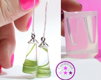 Cone Earring Mold Silicone Rubber Pyramid Mold