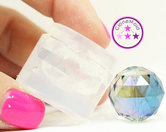 Round Gem Crystal Stone Mold; 20 mm Disco Ball Silicone Rubber Mold