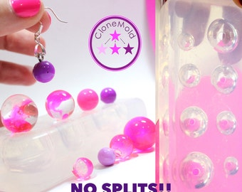 Sphere Ball Mold Multi Small Ball/Sphere Earring Pendant Silicone Rubber Jewelry Mold