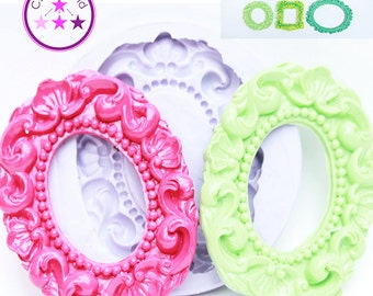 Frame Mold Oval Frame Mold; Silicone Rubber;