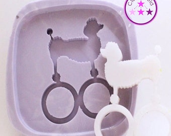 Ring Mold Dog Poodle Double ; Silicone Rubber; Size 8, 8.5