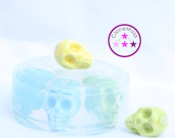 Skull Mold Earring or Bead Silicone Rubber Mold