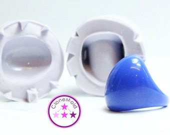 Ring Mold Oval Bubble Large Two Piece ; Silicone Rubber; Size 9.5