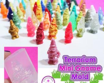 Mini Garden Gnome for Terrarium Silicone Rubber Mold