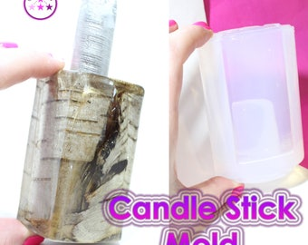 Tall Square Candle Stick Holder Mold Silicone Rubber