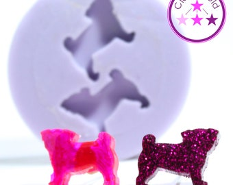 Pug Stud Jewel Earring Silicone Rubber Mold
