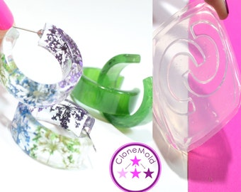 Hoop Mold Earring Silicone Rubber Mold