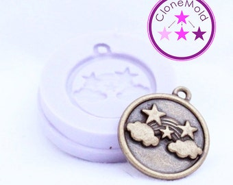 Rainbow Pendant Earring Mold Silicone Rubber Mold