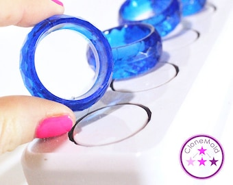 Napkin Ring Round Facetted Mold; Silicone Rubber