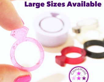Ring Mold Diamond Band ; Silicone Rubber; Size 5, 6, 7, 8, 9, 10